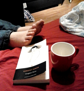 feet and book